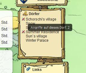 Visualizzazione attacco riepilogo villaggio